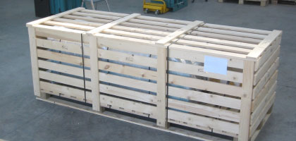 Single 75 in heat treated crate for customer in Africa.